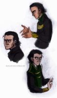 loki sketches by LessienMoonstar