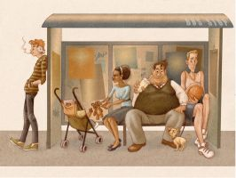 Bus Stop by LauraDollie