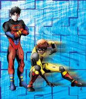 Superboy and Kid Flash by s0lidlyksnak3