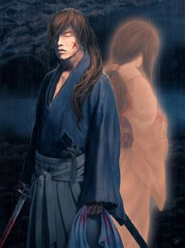 You made the bloody rain fall (Rurouni Kenshin) by Kirana