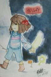 10 left. Undertale Genocide route. by Kristalina-Shining
