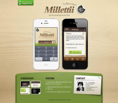 Millettii ios web template by iconnice