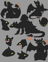 Toothless Doodles by Ume-Intoxication