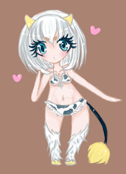 Cow girl chibi (Commission) by xMochiiix