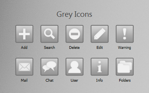 Grey Icons by SnowShade