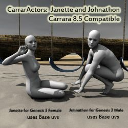CarrarActors Janette and Johnathon02 by Realmgal