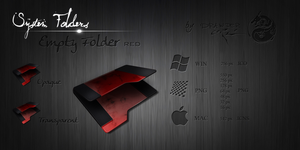 Red Empty Folder Icon by Drawder