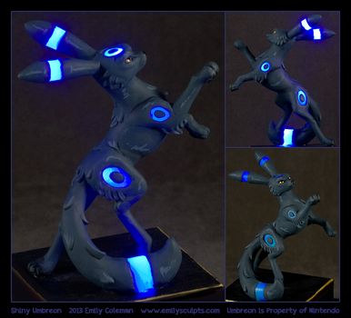 Commission : Shiny Umbreon (LED Lit) by emilySculpts