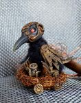Steampunk crow 001 by Irik77