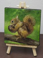 Mini Squirrel by crazycolleeny