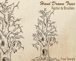 Free Hand Drawn Tree Brushes by Stockgraphicdesigns