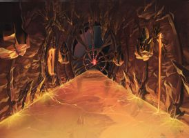 Exiting Muspelheim by Nightblue-art
