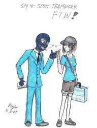 Scout and spy by Snakelvr21