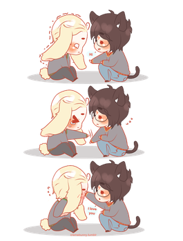 Chibi Drarry - The Crybaby Bunny by Cremebunny