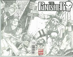 The Punisher 1 Sketch Variant by Ace-Continuado