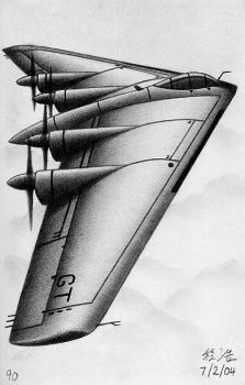 Flying Wing Bomber by nolowfat
