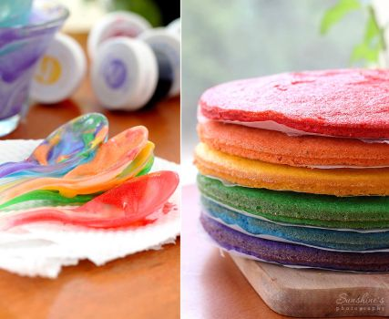 Products for the rainbow cake by kupenska
