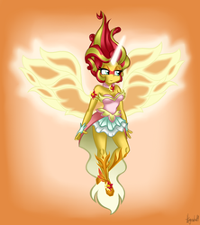 Art-trade: Daydream Shimmer (with phoenix wings) by StrawberryCat14