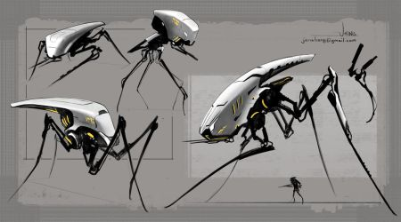 Spidery Mechs by CaconymDesign