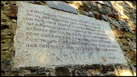 CommemorativePlaque,Margrave Leopold,Leopoldsberg by Charmadige