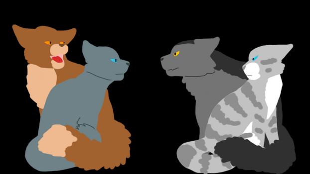 Gray and Silver vs Blue and Oak by RavenfeatherOfRC