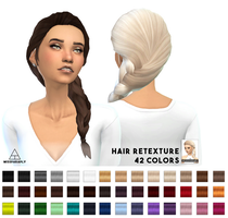 [MMD] Sims 4 French Braid Hair (+DL) by AppleWaterSugar