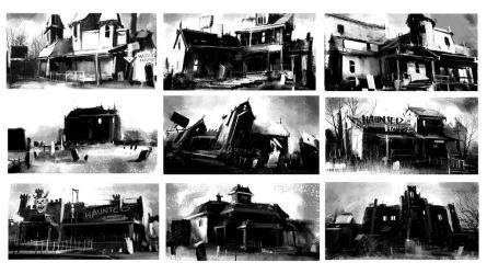 Haunted_House_Process_Step_01 by Gryphart