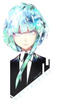 Houseki no Kuni oc Aquamarine by ToshioHD