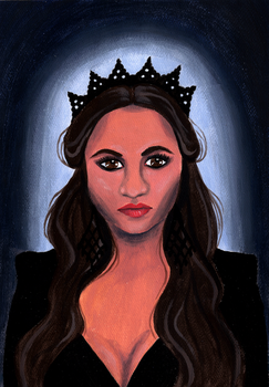 Pretty Little Liars Emily Acrylic Painting by LoVeras