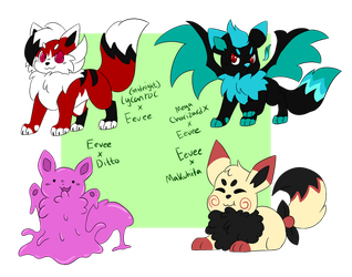Eevee Pokefusion adopts batch [OPEN] by EcruteakCity
