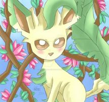 Blossom Leafeon! by sarahlouiseghost