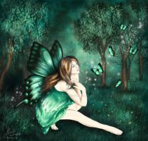 Adhara the Sea Green Butterfly by AethereaVis