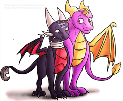 -Collab- Spyro and Cynder by hannahgrace-art