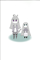 Francis and Lilly ghosts by limaneko