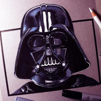Darth Vader Drawing by LethalChris