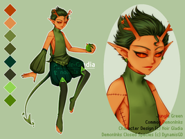 [ADOPT] Jungle Green DemonInks [Auction::Closed] by Noir-Gladia