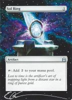 mtg Altered - Sol Ring in space by ClaarBar