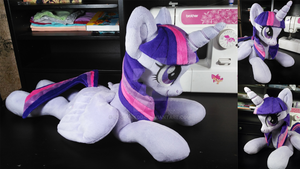 Twilight Sparkle plush (remake eyes) by DoctorKoda