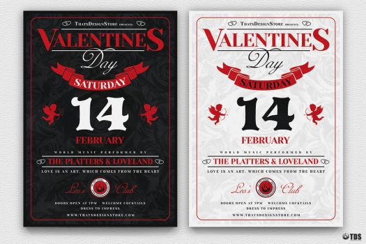 Valentines Day Flyer Template V12 by Thats-Design