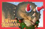 Holiday Triceratops by D-MAC