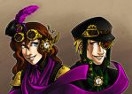 Steampunk Pair by CheleKat