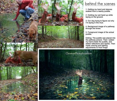 Behind the Scenes - Surreal puddle by kevron2001