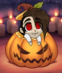 Aaron Pumpkin YCH by RoseandherThorns