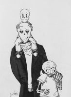 The Gaster family portrait by Savage-Mojo