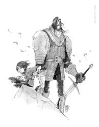 Game of Thrones - Arya Stark and The Hound by TeemuJuhani