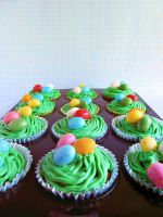 Easter Cupcakes by dabbisch
