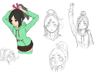 (WIP) Pose practice - Vanellope by summilly