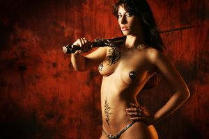 inspired by luis royo II by gestiefeltekatze