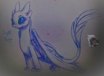 [HTTYD3|TA] Light Fury by evilfeather