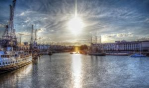 Sunshine above the river.. by FunkyBah